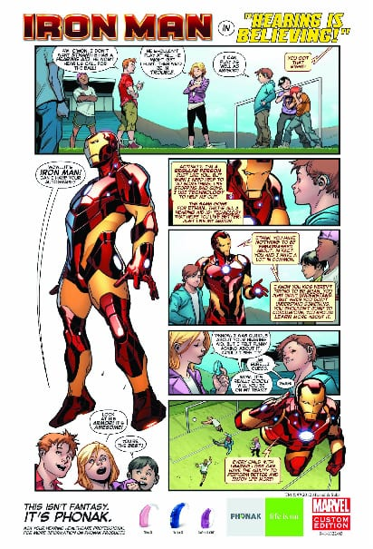 Ironman and Phonak Battle Childhood Stigma of Hearing Aids With New Poster