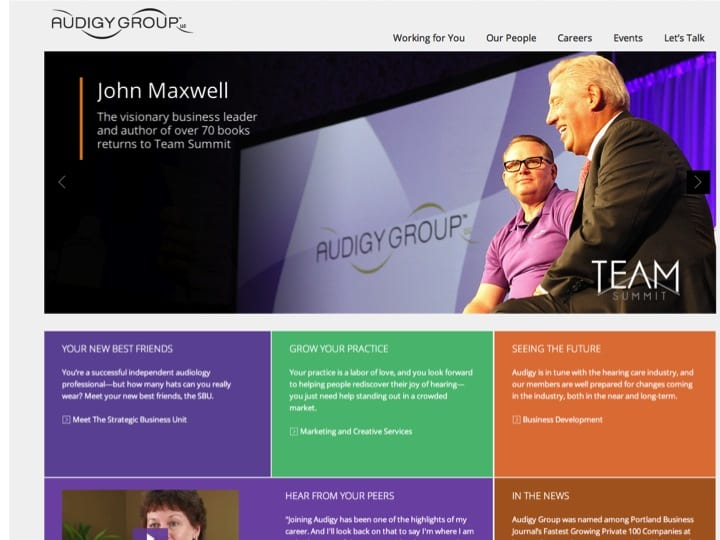 Audigy Group Unveils New Look for Corporate Website