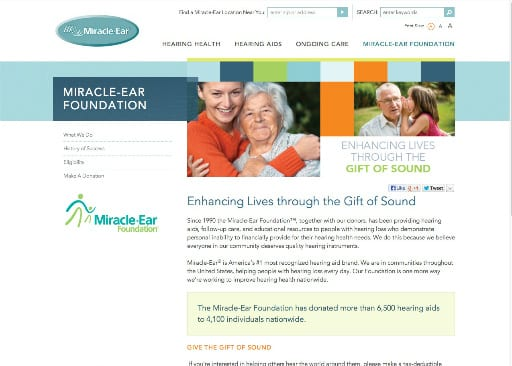 Miracle Ear Launches New Consumer Website