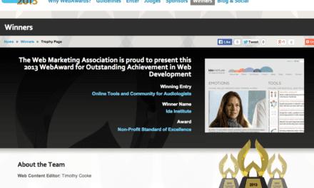 Ida Institute Website Wins Fourth International WebAward