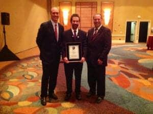 Beltone President Todd Murray, Ron Leavitt, and Beltone's Ken Laferle.