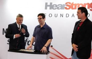 Pictured from left: Ed Keller, president of EarQ and founder of the HearStrong Foundation, HearStrong Champion Sanford Freed, and HearStrong Ambassador Blaise Winter