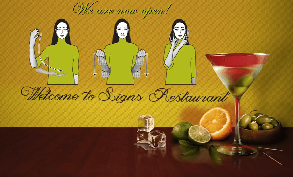 Restaurant-Goers Learn a New Language While Dining