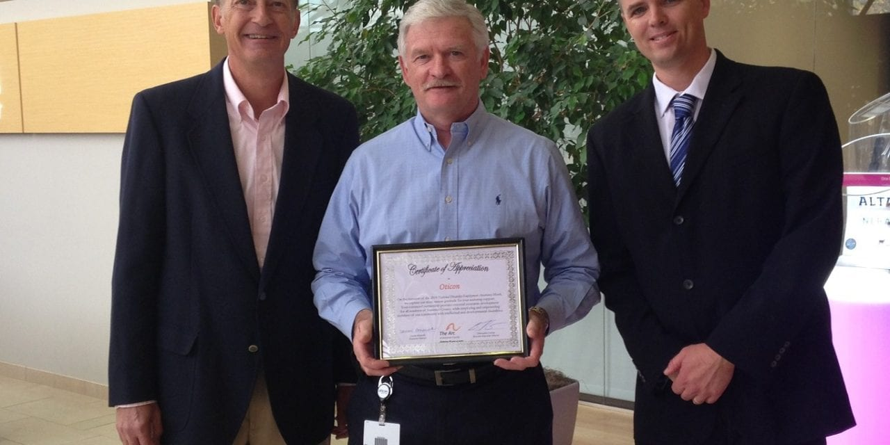 The Arc Honors Oticon for Support of People with Disabilities