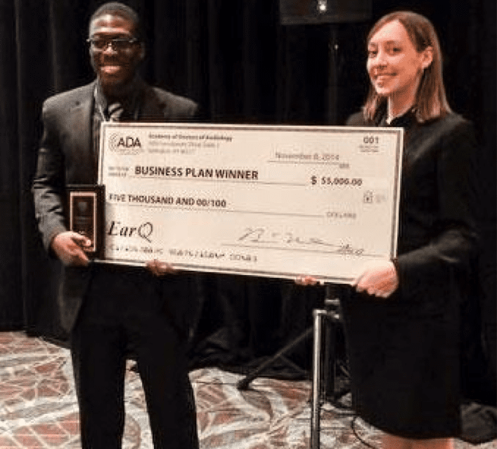 EarQ and ADA Award Grant for Business Plan to Audiology Students