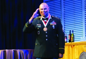 Staff Sargeant (ret) Shiloh Harris told attendees of the 2015 AAA Convention of his recovery from wounds he received in the War in Iraq and how audiologists and hearing aids played an important role in his life.