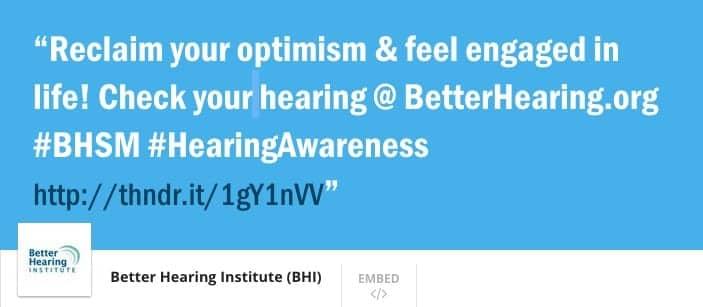 BHI Raises Hearing Awareness with May 28th Thunderclap Campaign