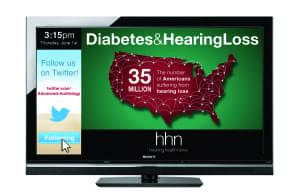 HHN screens show health-related info