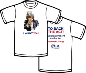 """The ADA is offering """"Back the Act"""" t-shirts for sale."""