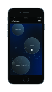 Tinnitus Calmer users can  select from the sound therapy library or create their own sound mix.