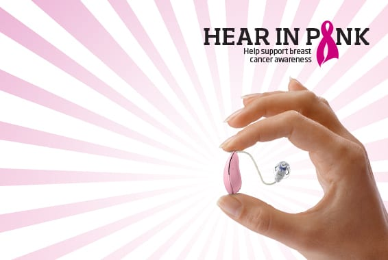 Oticon Campaign Promotes Hearing Health, Breast Cancer Awareness