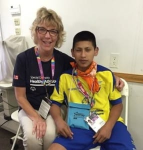 Audigy Group staff offered hearing care at Special Olympics.
