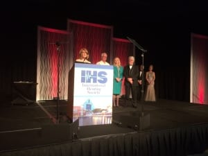 The IHS Chapter of the Year Award was presented to the Washington Hearing Society represented by (l to r) Dianne Fox, Tammy Miller, Rick Giles, and Ralph Lenhard.