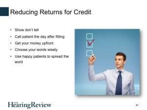 In her 20-minute webinar, Dr Kasewurm outlines how her practice has reduced the return-for-credit rate to about 1%.