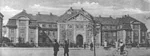 The City Hospital in Copenhagen in 1910, unchanged in 1960.