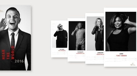 Hear the World 2016 Calendar Features Star Portraits