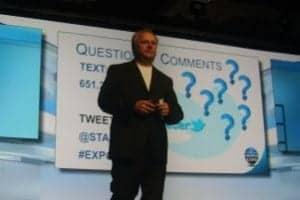 Jerry Ruzicka addressing the 2014 Starkey Innovations Expo.