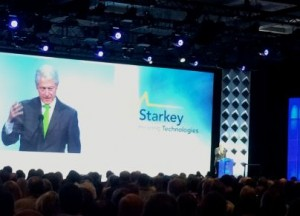 President Bill Clinton spoke of his work with the Starkey Hearing Foundation and the Clinton Global Initiative.