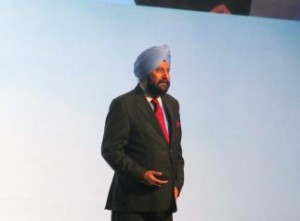 """Satjiv Chahil presented """"A Silicon Valley Perspective"""" on hearing healthcare and marketing."""