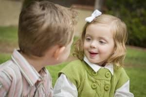 Children learning words