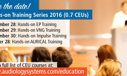 Audiology Systems Announces New Dates for Hands-on Training Series