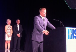 Heinz Ruch of Amplifon was honored with the James P. Lovell Award for his work in advancing the status and role of hearing care professionals.