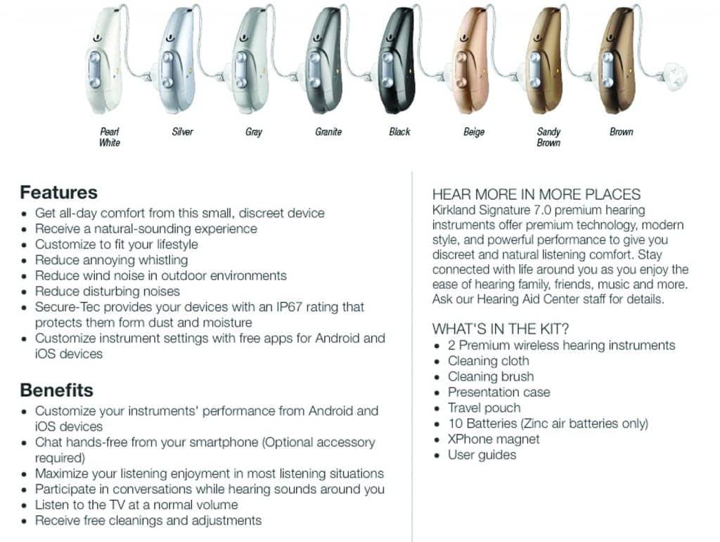 Costco Kirkland Signature brand hearing aids