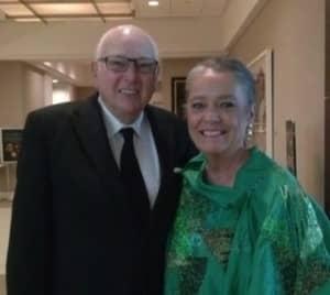 Earl Harford with his wife, Jennifer.