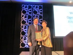 Victor Bray was presented with the David P. Goldstein Award for his work in making the audiology program at Salus University one of the biggest and best in the nation.