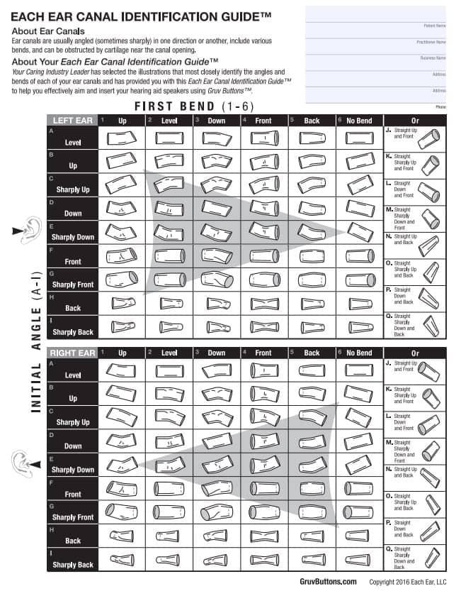 Ear Ear Canal Identification Guide