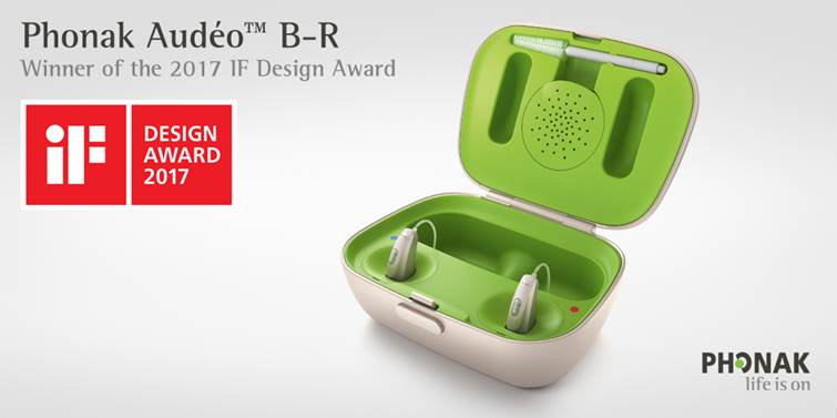 Phonak Audéo B-R Rechargeable Aid Recognized with 2017 iF DESIGN AWARD