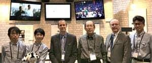The Media Plus team (left to right): Hironichi Hosakawa, Satoko Tsuji, Per Persson (Williams Sound), Shuji Ozaki, Joe Manning (International Sales) and Nobuyuki Ohba.