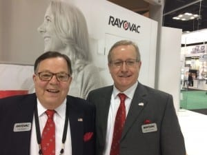 Rayovac's Tom Begley and Kevin Kouba at the American Academy of Audiology Convention in Indianapolis.