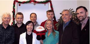 Left to right:  Alan Thiele, Cory Keith, Vivian Wong, Garey Rickher, Connie Morris, Ben Perkins, Paul Morris and Eric Bateman.