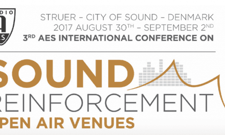 3rd Annual 2017 AES Conference on Sound Reinforcement to Take Place August 30-September 2