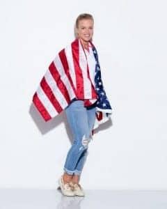 Kaylin with American Flag
