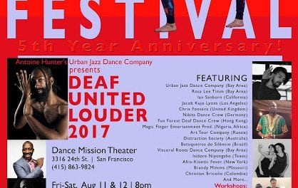 5th Bay Area International Deaf Dance Festival 'Deaf United Louder' to Take Place August 11-13