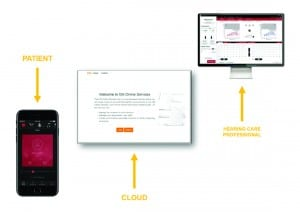 Figure 4. Remote assistance through use of Cloud services.
