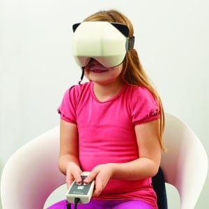 Figure 3. Child performing the Virtual SVV™ test.