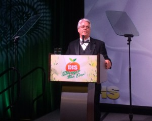 IHS President Rick Giles addresses attendees during the IHS Gala.