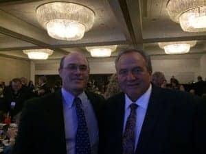 Hearing Review Editor Karl Strom with Rick Frasier, founder of Frasier Enterprises.