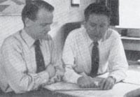 Erik Westermann and Christian Tøpholm (shown at right at the company's founding in 1956).