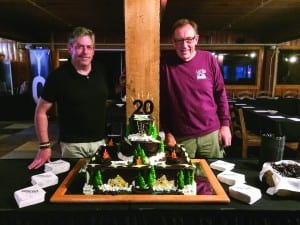 The Oticon Audiology Summer Camp founders, Donald Schum and Henning Falster, have overseen all 20 of the educational events, constantly changing its program to suit the dynamic needs of students and to reflect the evolving field of audiology. Keystone Lodge, where the event is held each year, honored the Camp with a special anniversary cake.