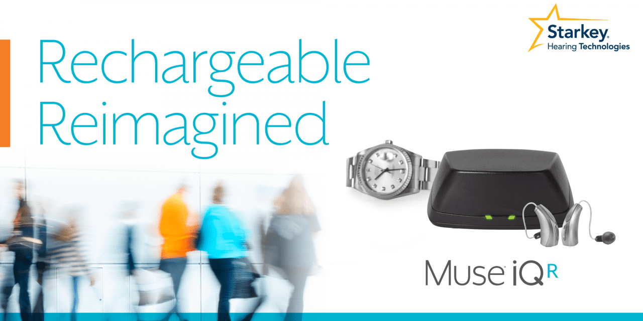 Starkey Hearing Technologies Launches Muse iQ Rechargeable Hearing Aid