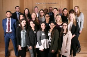 Audiology students from The Long Island Consortium, City University of New York, Salus University, Montclair State University, Vanderbilt University and Pacific University participated in a day-long educational seminar at Oticon US headquarters on February 22.
