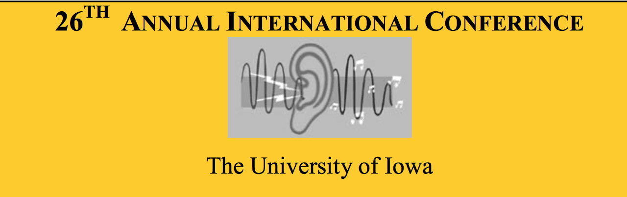 The International Conference on the Management of the Tinnitus and Hyperacusis Patient to Take Place June 14-15, 2018 at The University of Iowa