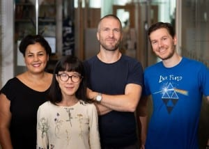 Saida Hadjab, Haohao Wu, François Lallemend and Charles Petitpré, research group Lallemend, the Department of Neuroscience.