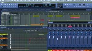 Figure 2. A digital audio workstation (DAW) for composing music.