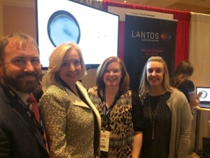 Brian Fligor, Susan Whichard, Beth Schaefer, and Erin Henry demonstrated new capabilities of the Lantos Technologies ear scanning system on the ADA exhibit floor which featured over 50 companies.