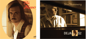 Left: Stu Nunnery's 1973 self-titled LP. Right: his recent CD which can be purchased at https://store.cdbaby.com/cd/stununnery and on Apple iTunes.